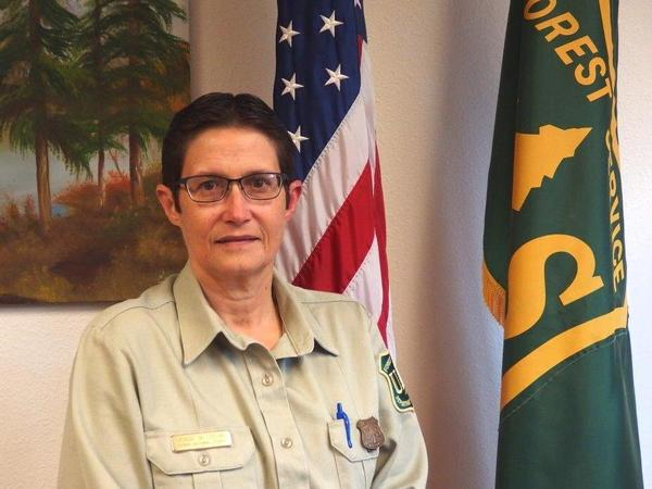 """Denise Tolmie, a district ranger on the Sierra National Forest, says she believes that fire needs to be part of the forests she manages, but a fire has to fit in a """"very, very tight window,"""" to not be suppressed."""