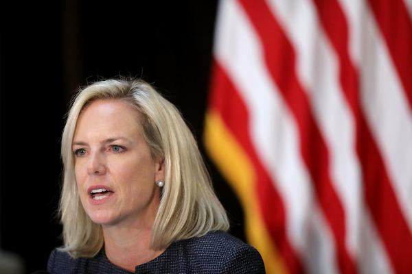 """Homeland Security Secretary Kirstjen Nielsen said a proposed rule being submitted for public comment is designed to ensure that immigrants """"are not likely to become burdens on American taxpayers."""""""