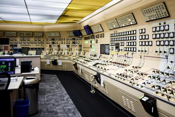 A small portion of the Byron plant's control room. Almost every system can be controlled from here.