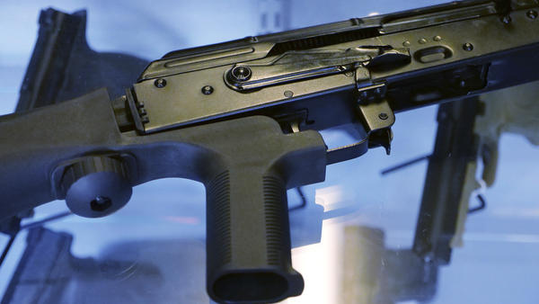 "In the aftermath of the Las Vegas mass shooting, there were widespread calls to ban ""bump stocks,"" a device attached to a semi-automatic rifle to speed up the firing rate."