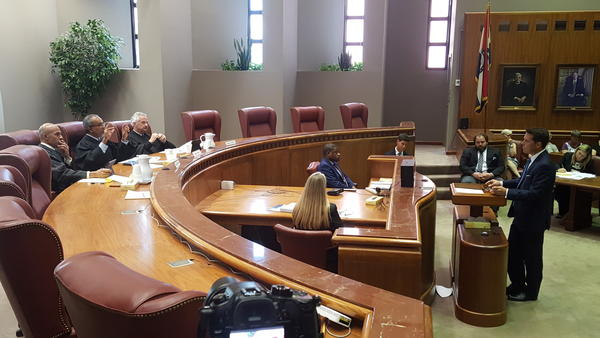 A special three-judge panel of the Missouri Court of Appeals hears arguments on Clean Missouri initiative.