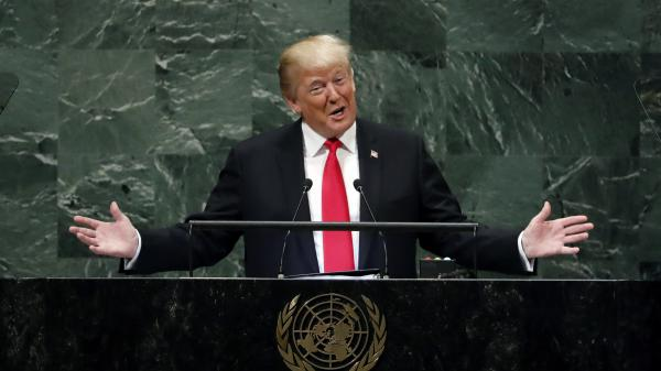 President Trump addresses the United Nations General Assembly on Tuesday.