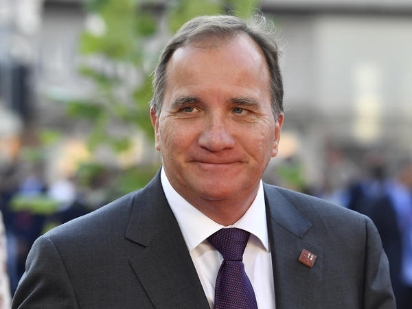 Swedish Prime Minister Stefan Lofven, shown here last week, has lost a vote of confidence in parliament.