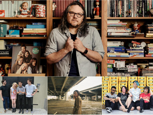 Clockwise from left: Wilco front man Jeff Tweedy, Bad Moves, Yowler and Charly Bliss.