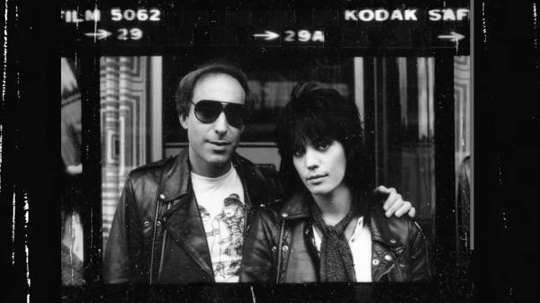 Kenny Laguna and Joan Jett in a still from <em>Bad Reputation</em>.