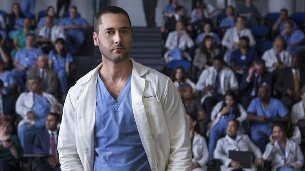 Ryan Eggold as Dr. Max Goodwin in <em>New Amsterdam</em>.