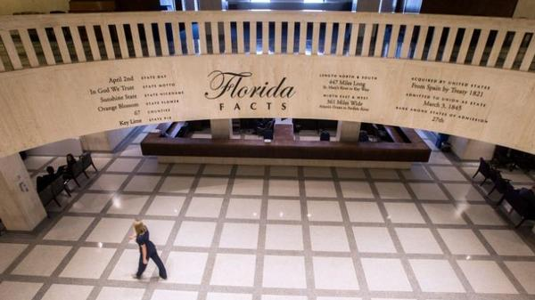 A view of the rotunda in Florida's Capitol Building in Tallahassee.