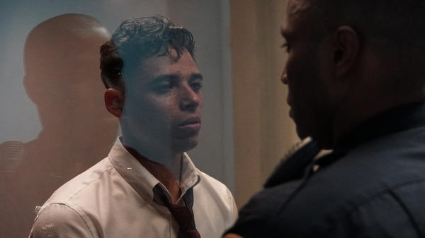 Through The Looking-Glass: Manny (Anthony Ramos) and Dennis (John David Washington) in <em>Monsters and Men</em>.