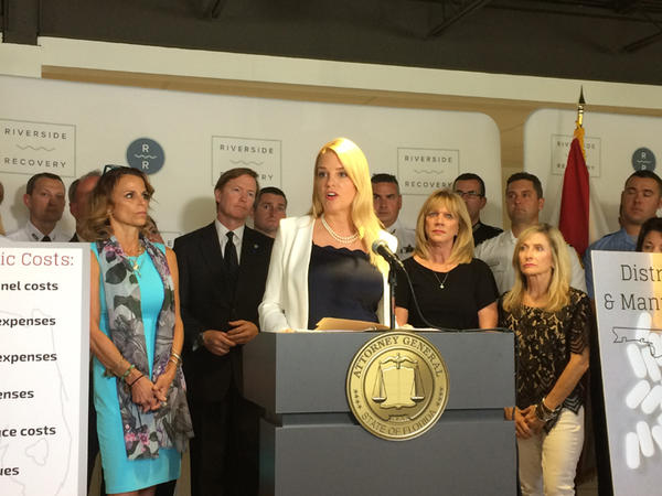 Attorney General Pam Bondi at an event in Tampa earlier this year.