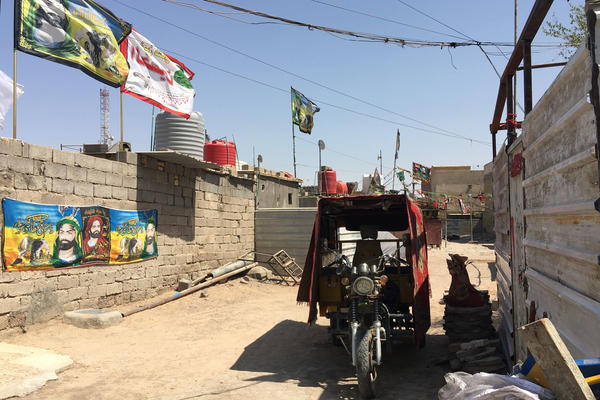 Basra's al-Aleea neighborhood. After Saddam Hussein was toppled in 2003, tens of thousands of families occupied government land in the city and built makeshift houses.