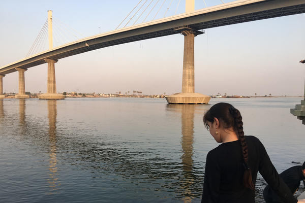 A new suspension bridge across the Shatt al-Arab river was built to improve access to the border crossing with Iran. Hours after opening the bridge last year, former Gov. Majid al-Nasrawi fled the country, crossing over the new bridge<em> </em>into Iran, after the Iraqi government announced a corruption investigation against him.