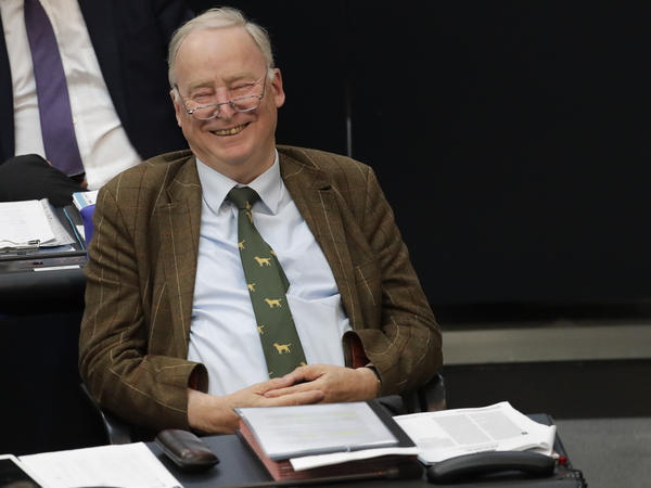 Alexander Gauland, co-chairman of the Alternative for Germany party, in the German parliament in Berlin in late June.