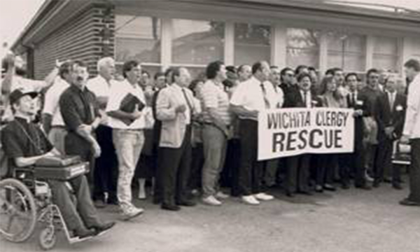 Protesters with Operation Rescue in Wichita in 1991