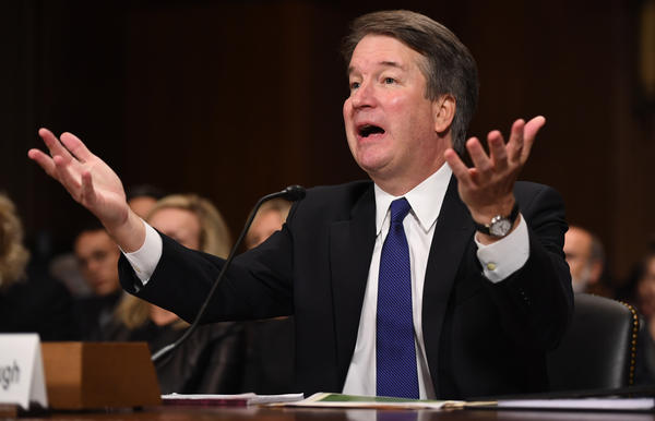 Supreme Court nominee Judge Brett Kavanaugh testifies before the Senate Judiciary Committee.
