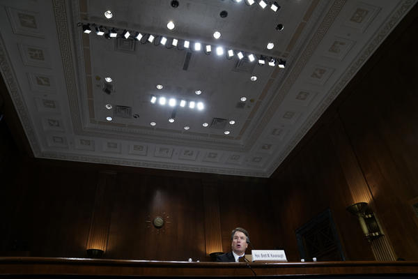 Kavanaugh testifies before the committee.