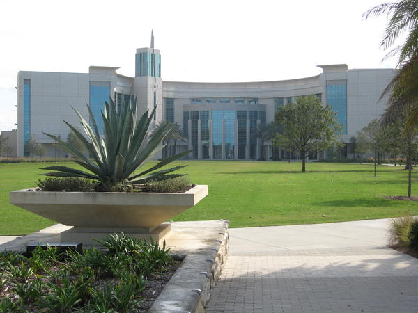 The College of Medicine can be seen on the campus of the University of Central Florida.