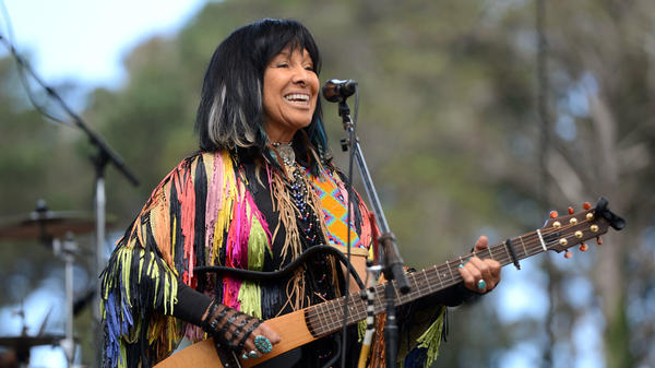 Buffy Sainte-Marie performs during Hardly Strictly Bluegrass at Golden Gate Park in Oct. 2016 in San Francisco.