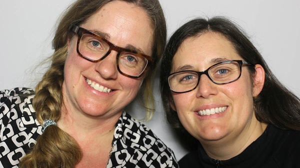 Zoe Courville (left) and Lora Koenig at their StoryCorps interview in December 2017.