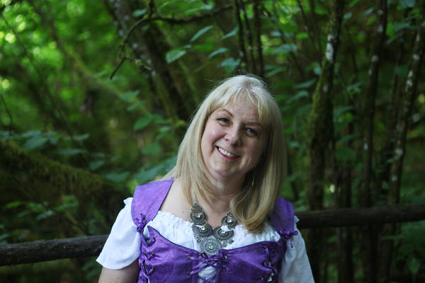 """Susan Vaslev, 62, is the oldest of Tofte's four children and helps run the Enchanted Forest these days. She also performs in an Irish band at the park. """"If you have a vision, you just keep working at it, bit by bit by bit, and eventually, it will get done,"""" she says. """"That's what I have learned from my dad."""""""