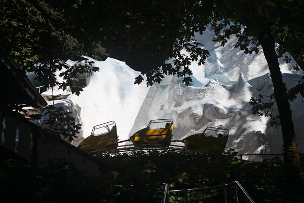 The first ride at the Enchanted Forest was the Ice Mountain Bobsled roller coaster, which opened in 1983.
