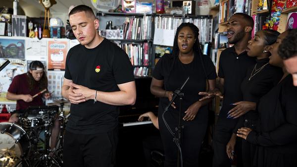 Dermot Kennedy performs a Tiny Desk Concert on July 27, 2018 (Eslah Attar/NPR).