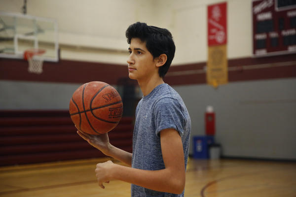 If the North Dakota harvest wraps up in time, Angel plans to try out for his Texas high school's basketball team.