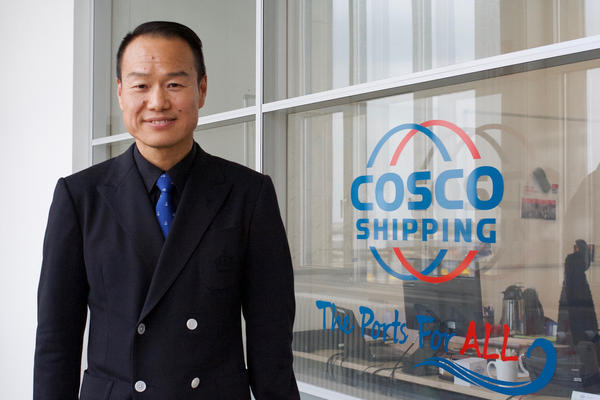 "David Liu, the COSCO chief executive at the Zeebrugge port, has retained local managers at the terminal. ""This is the new, open COSCO,"" he says. ""We invest in those we work with."""