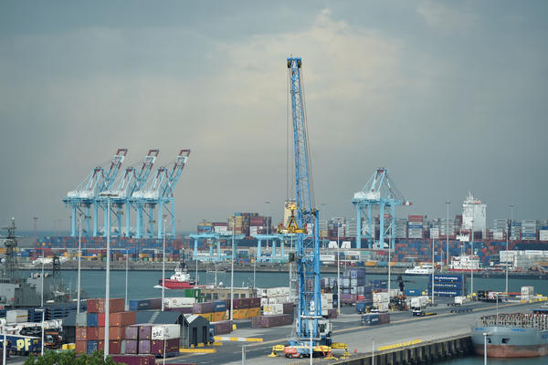 COSCO's most recent port investment in Europe is in the North Sea harbor town of Zeebrugge in Belgium.