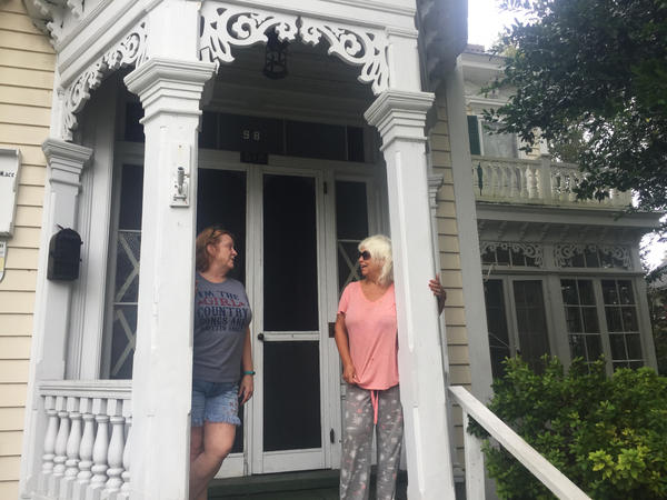 Sisters Julie Mitchell (left) and Debbie Edwards grew up in this Victorian home in New Bern, N.C.
