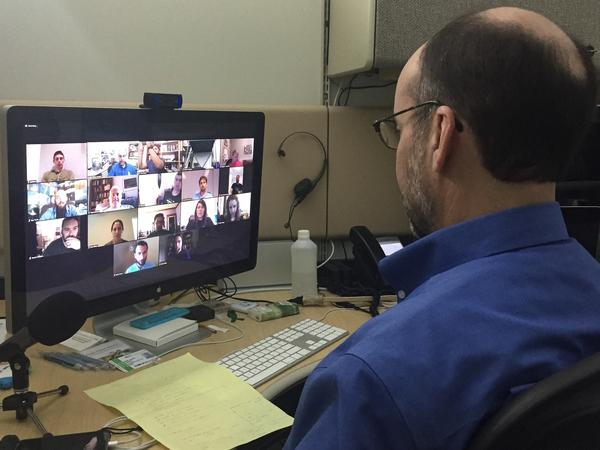 The Colorado School of Mines has started the world's first Space Resources degree program. Professor Angel Abbud-Madrid conducts an online class from his offices in Golden, Colo.