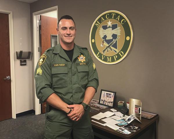 Sgt. Justin Van Nest of the Las Vegas Metropolitan Police Department.