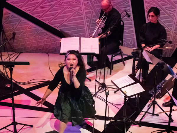 Du Yun performs at Angel's Bone release concert at National Sawdust.