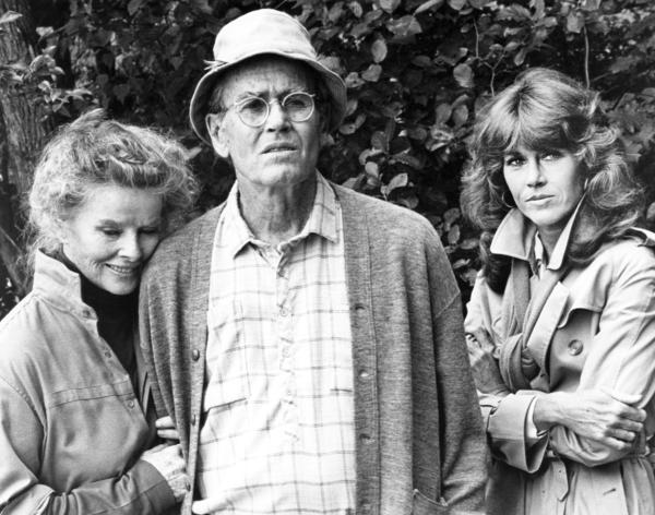 Jane Fonda, right, starred alongside her father, Henry Fonda, and Katharine Hepburn in the 1981 film <em>On Golden Pond.</em>