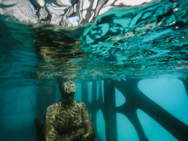Dozens of statues in Jason deCaires Taylor's <em>Coralarium </em>installation in waters off the Maldives were removed, according to local media.