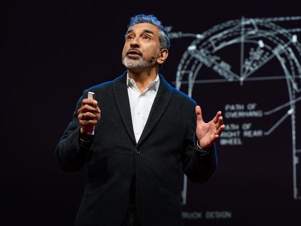 Vishaan Chakrabarti on the TED stage.