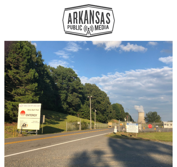 The entrance to Entergy Arkansas's White Bluff coal-fired power plant near Redfield, Ark.