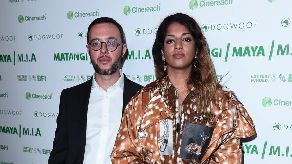 Steve Loveridge and Maya Arulpragasam attend the UK premeire of M<em>ATANGI / MAYA / M.I.A</em> at The Curzon Mayfair on Sept. 19, 2018.