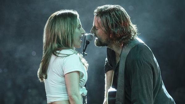 Lady Gaga and Bradley Cooper in <em>A Star Is Born</em>.