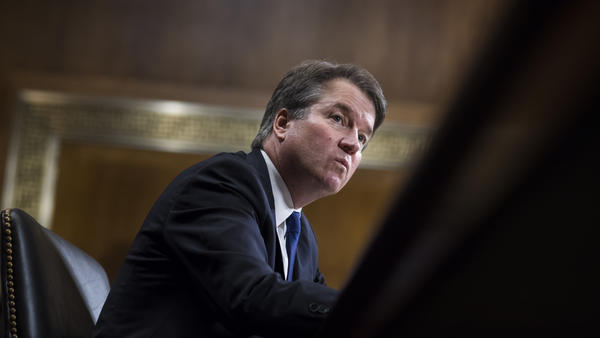 Judge Brett Kavanaugh testifies before the Senate Judiciary Committee on Thursday.