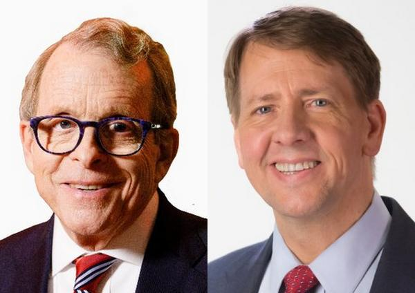 Governor candidates Mike DeWine (left) and Richard Cordray (right).