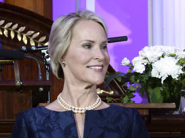 Biochemical engineer Frances Arnold receives the Millennium Technology Prize 2016 during the awards ceremony in Helsinki, Finland. Arnold, an American, shares this year's Nobel Prize in Chemistry with two others, another American, George P. Smith and the U.K.'s Sir Gregory P Winter.