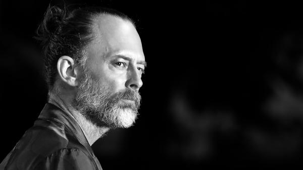 Thom Yorke looking very serious at the <em>Suspiria</em> screening for the 75th Venice Film Festival.