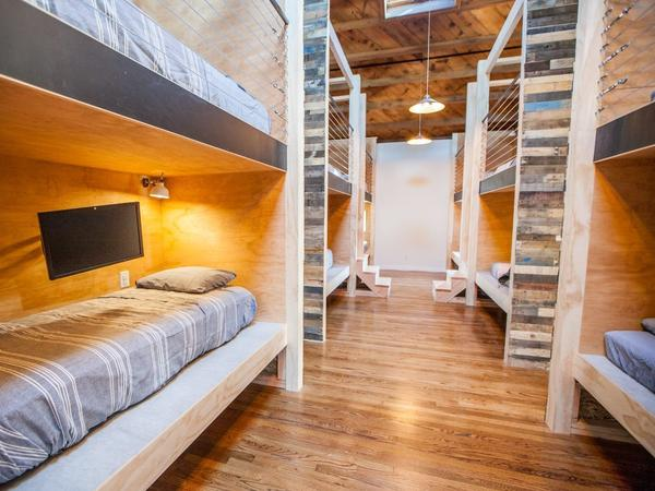 A PodShare co-living building in Venice Beach, Calif. Dorm beds here go for about $1,400 per month.