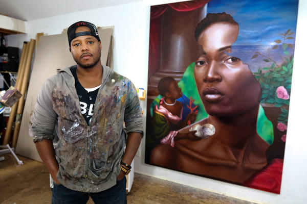 Titus Kaphar often appropriates familiar styles from the Western art canon, but his paintings and sculptures alter the images to point out hidden histories of racism and slavery.