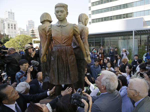 "The <em>Column of Strength</em> monument to ""comfort women"" was unveiled last year. This week, the mayor of Osaka, Japan, said he was withdrawing his city from a six-decade ""sister city"" relationship with San Francisco over objections to the statue."
