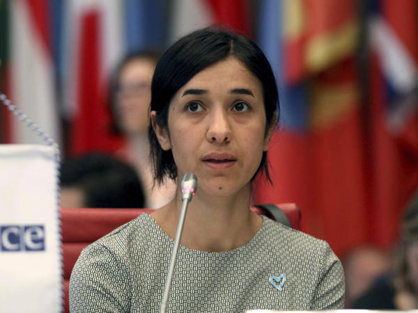 The 2018 Nobel Peace Prize has been awarded to Nadia Murad (pictured) and Dr. Denis Mukwege, a gynecologist from the Democratic Republic of the Congo, for their efforts to combat wartime sexual assault.