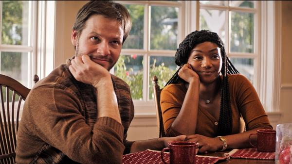"<em>""DO</em> go on"": Ike Barinholtz and Tiffany Haddish star in <em>The Oath</em>."