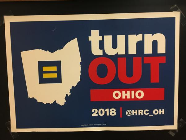 Poster being used by LGBTQ groups to get out the vote