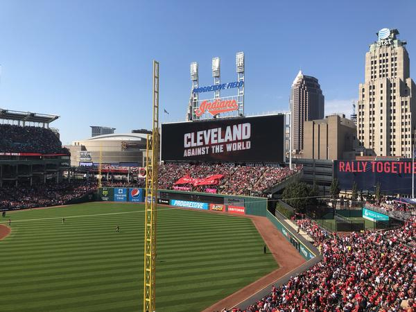 A sell-out crowd sweated through record-setting heat at Progressive Field and a disappointing performance that ended the Indians postseason.