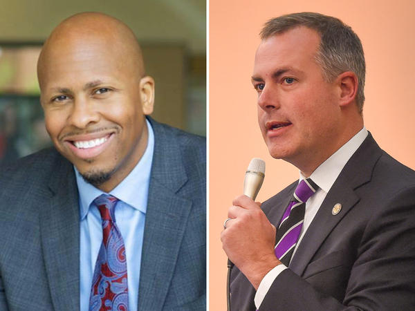 Cincinnati attorney and Democrat Rob Richardson Jr. (left) and Republican Rep. Robert Sprague (Findlay) are the candidates for state treasurer office.